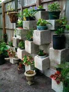 Tiestos reciclados - bloques de Hormigon