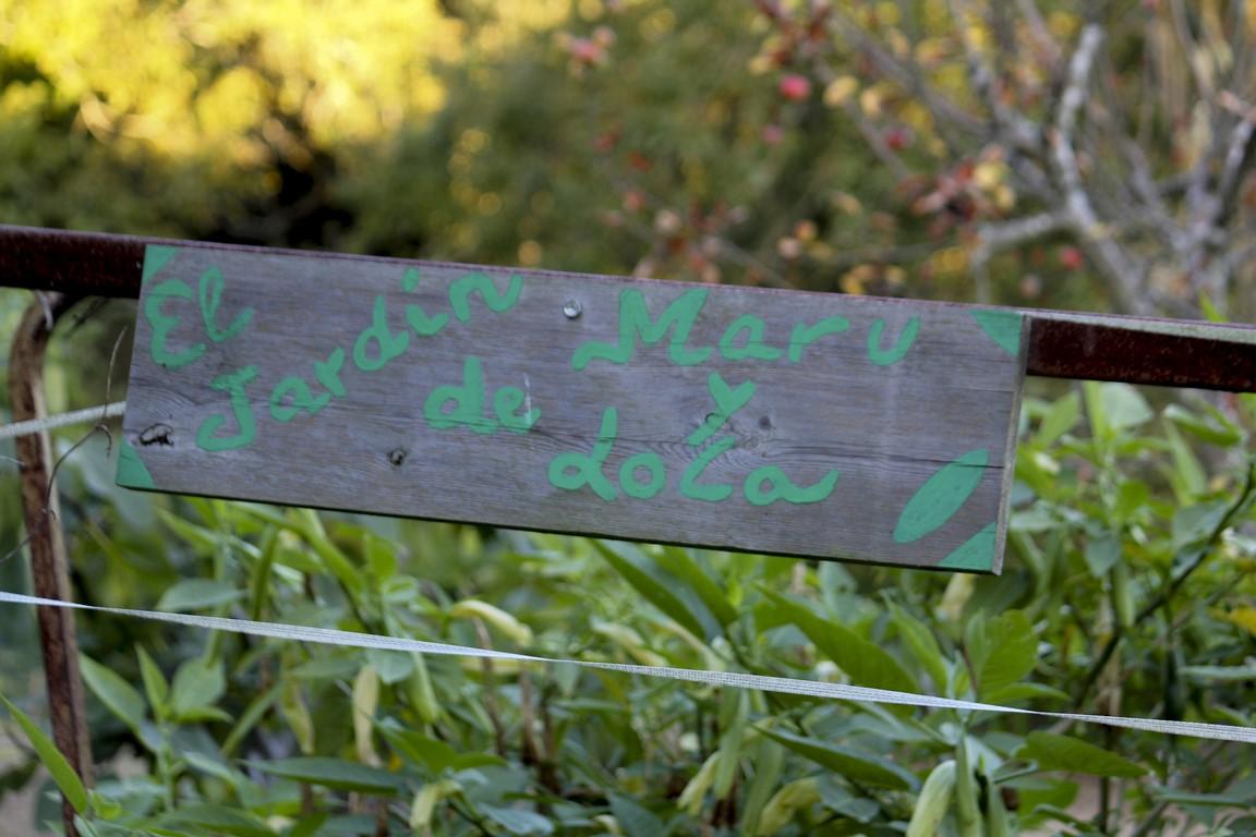 El cartel de nuestro jardín