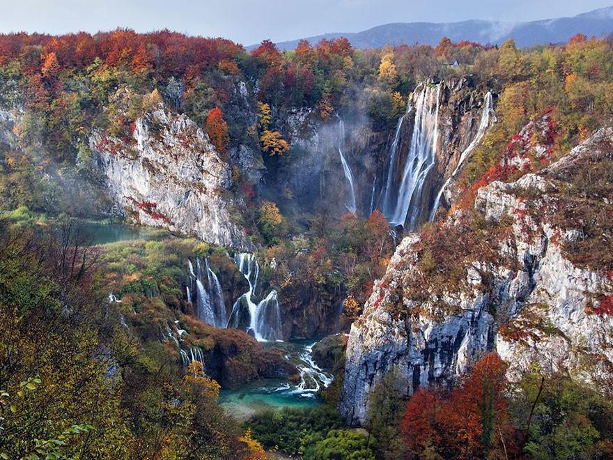 Cascadas en Otoño, Parque Nacional Lagos Plitvice, Croacia /Vedrana Taf